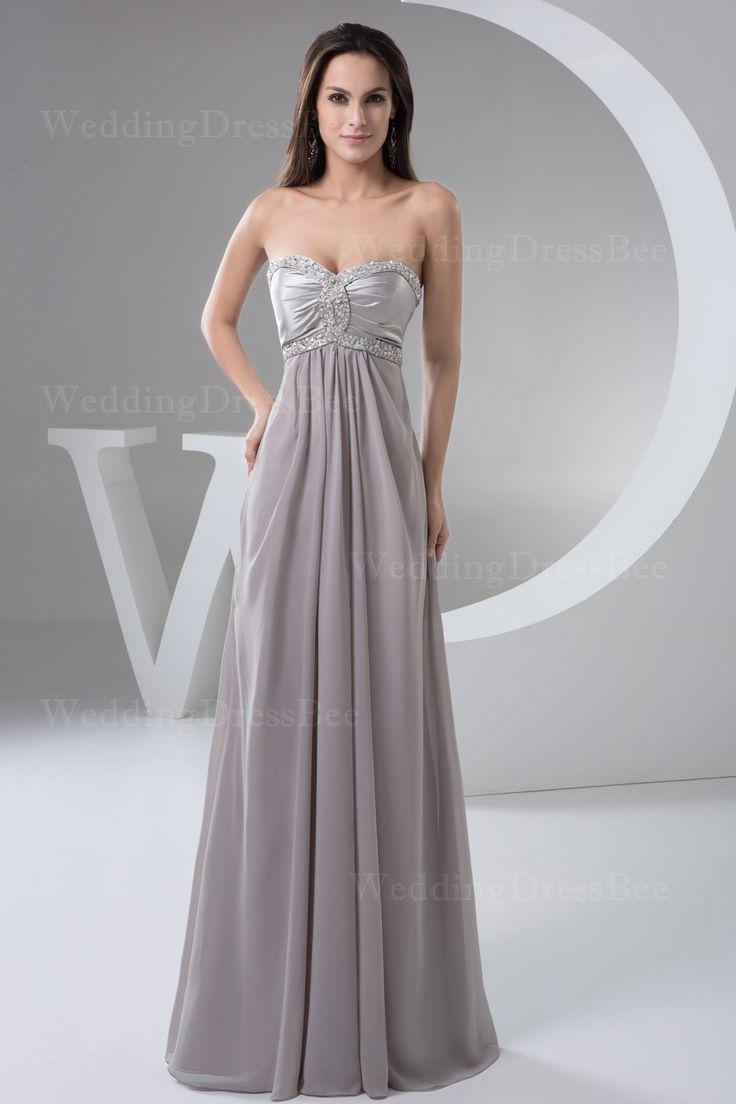 Strapless a-line occasional chiffon dress