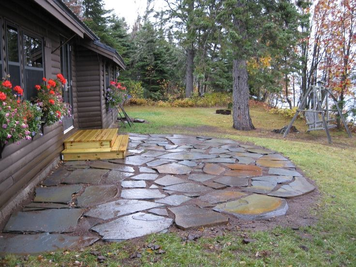 43 best images about patio ideas on Pinterest   Fire pits ... on Pebble Patio Ideas id=84554