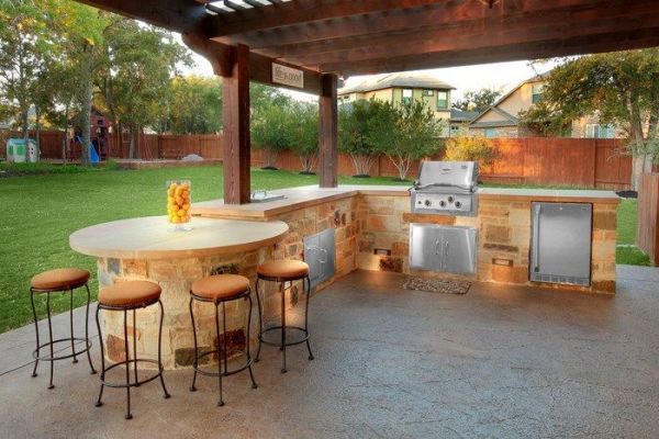 outdoor kitchen with pool and patio 21 best images about Pool on Pinterest | Backyard pavilion