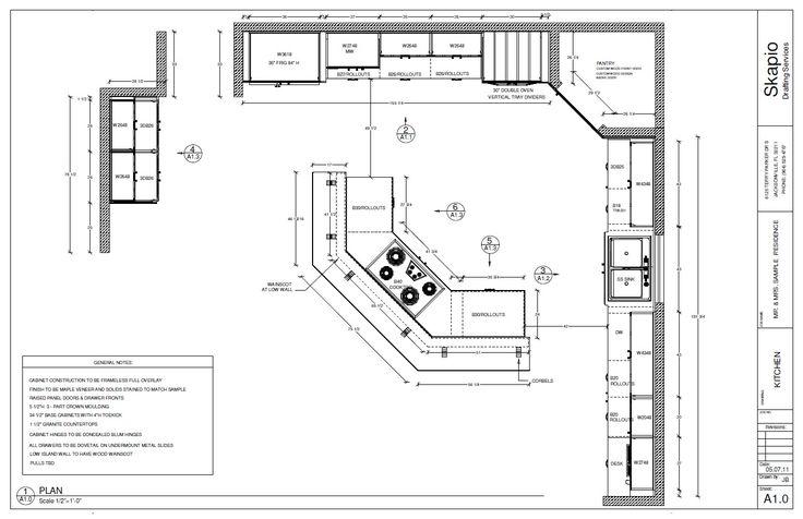 Sample Kitchen Floor Plan Shop Drawings Pinterest