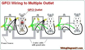 multiple gfci outlet wiring diagram | GFCI outlet wiring