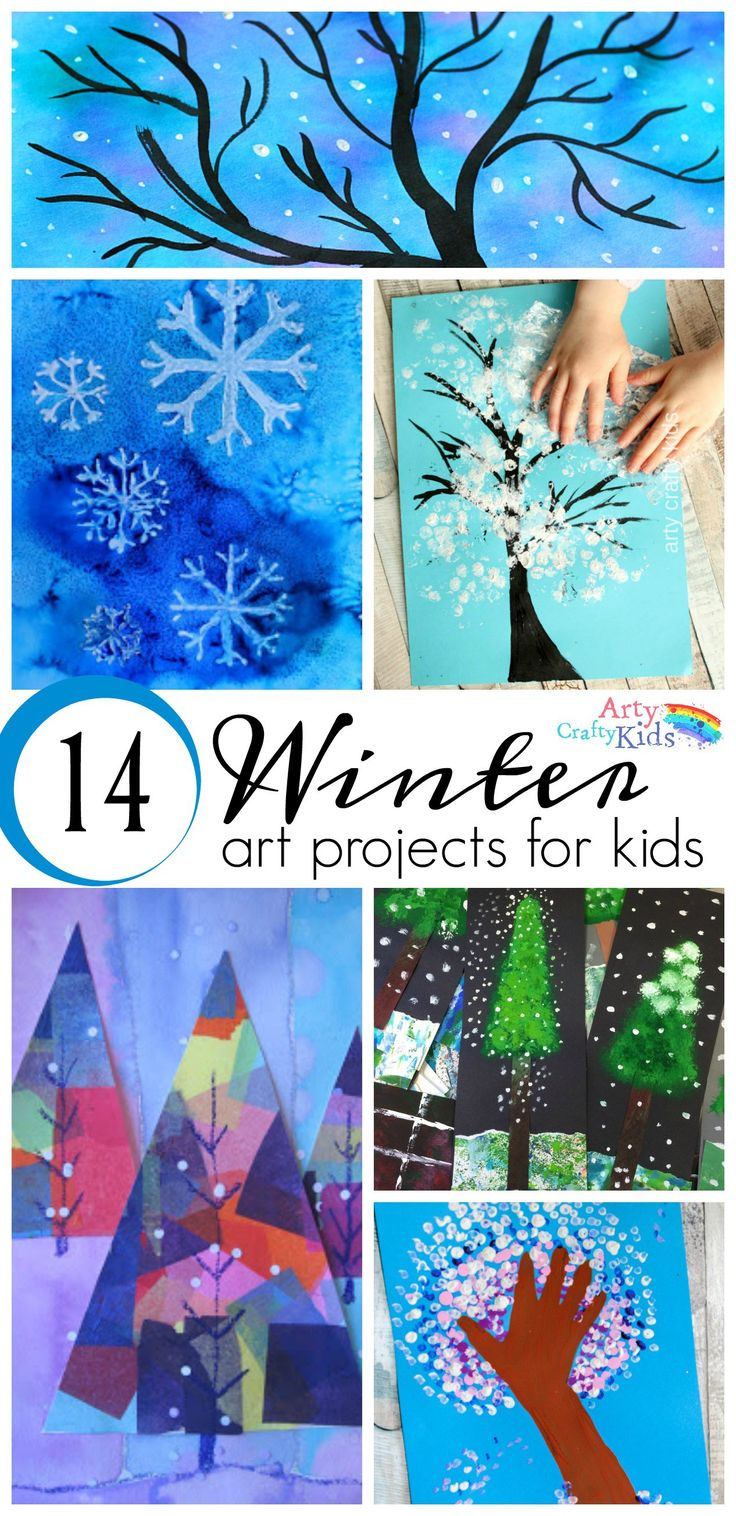 16 Winter Art Projects for Kids – A selection of gorgous snowy Winter art projects