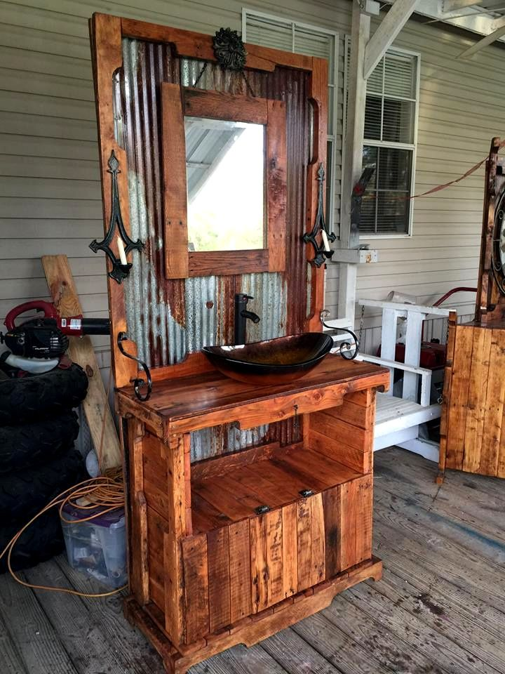 Pallet Table Diy Makeup Vanity