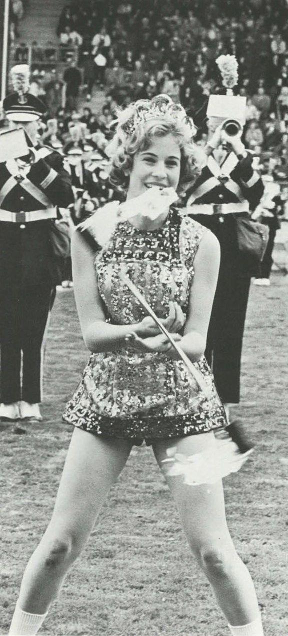Drum Majorette During Halftime Show Of 1964 Oregon