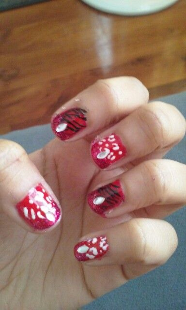 Animal Print Valentine Day Aris Nail Art Pinterest