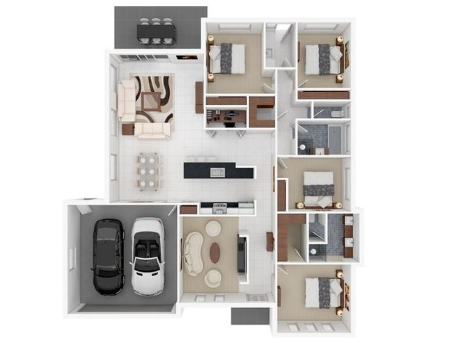 25 Best Ideas About 4 Bedroom Apartments On Pinterest Sims 3 Houses Plans House And Layout