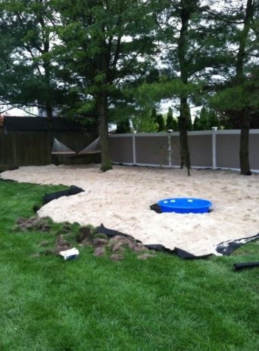 15 Tons Of White Sand For My Back Yard Beach Retreat My