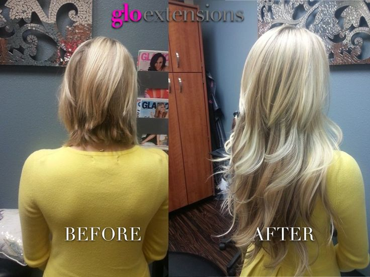 Hair Extensions Before Amp After By Glo Extensions Denver
