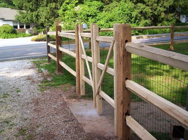 How to build a split rail fence gate design http