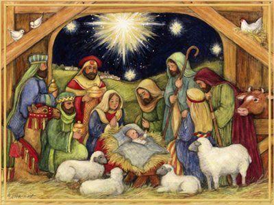 Nativity Adore Him Christmas Cards Box Of 18 Christmas