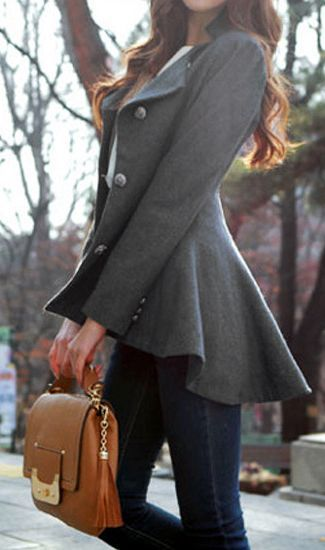 Love this coat for fall. ~ 50 Great Fall Outfits On The Street – Style Estate -: