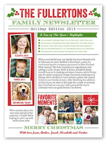 11 Best Images About Christmas Family Newsletter On