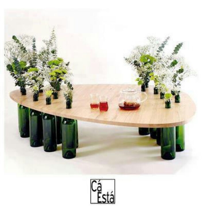 Coffee Table Idea With Wine Bottle Legs Stuff I Want To