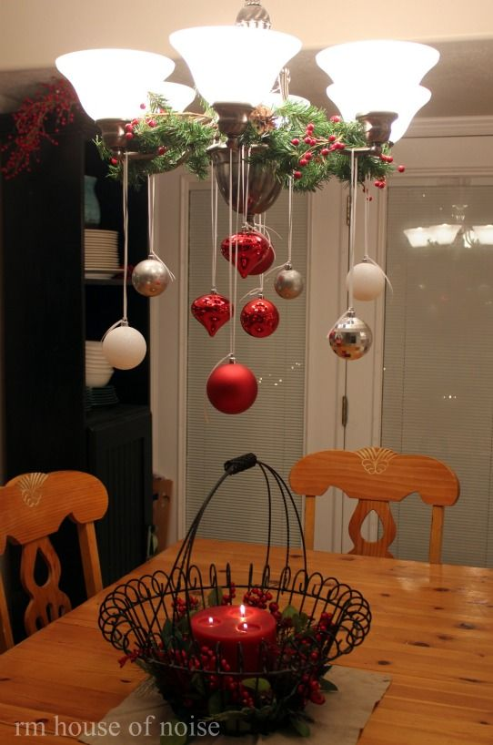 hang ornaments from the kitchen light. Doing.this….probably November 1st :)