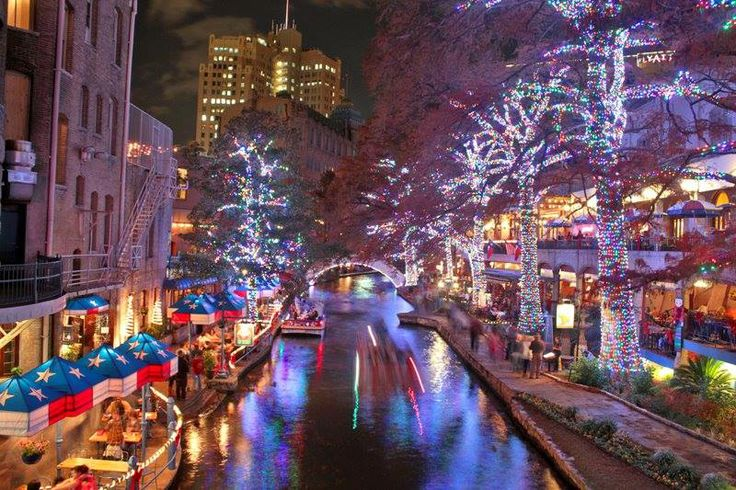 San Antonio Riverwalk Christmas Lights ChristmasIts