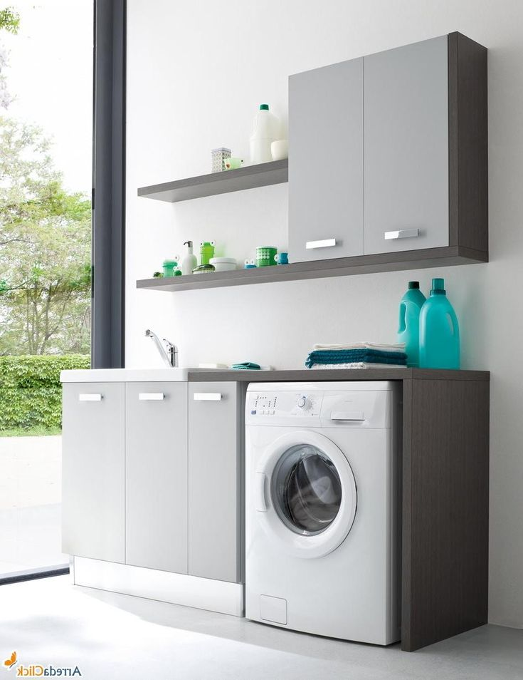 Natural Stylish Laundry Room Decoration Ideas With Small ... on Small Space Small Bathroom Ideas With Washing Machine id=12255
