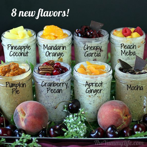 Refrigerated oatmeal. New favors