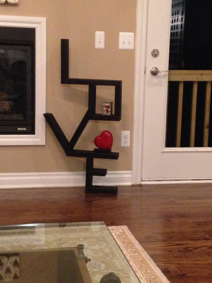 2x4 LOVE DIY Shelf Cost500 Home Ideas Pinterest