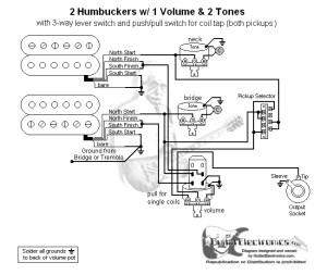 2 Humbuckers3Way Lever Switch1 Volume2 TonesCoil Tap | School Stuff | Pinterest | Products