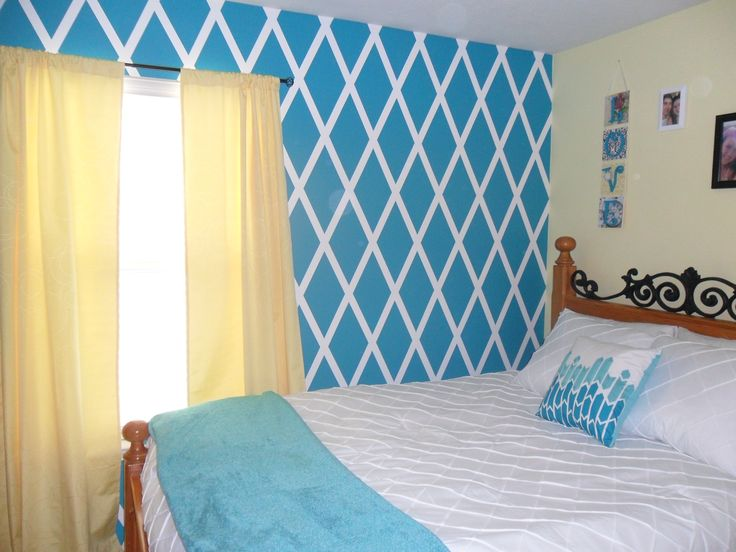 Diamond Design Painted Wall