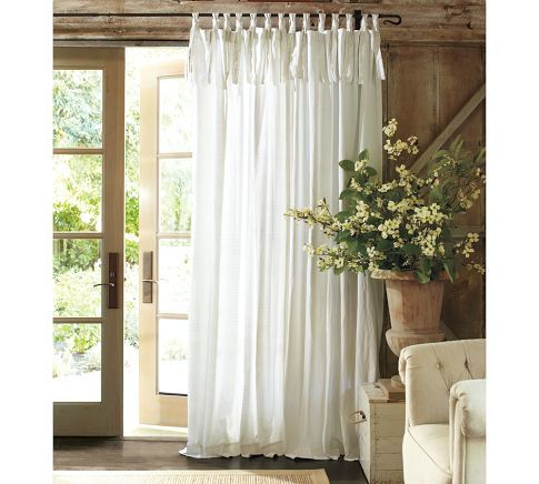 PB Tie Top Curtains Valances And Curtains Pinterest French Doors Pottery And Window