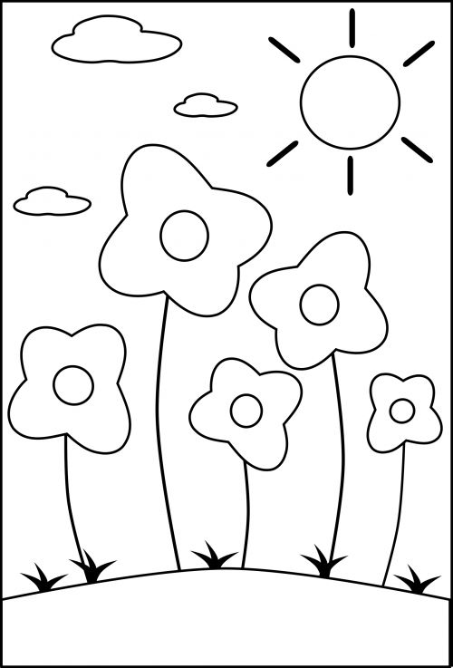 1000+ images about Seasons of the Year Coloring Pages on ...   flower coloring pages preschool