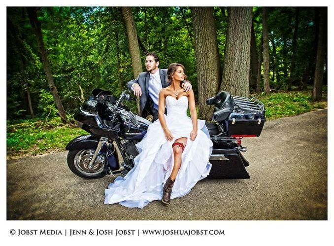 biker wedding pictures | Harley Davidson Motorcycle
