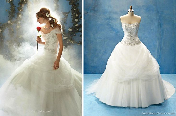 """Belle """"Beauty And The Beast"""" Inspired Wedding Dress."""
