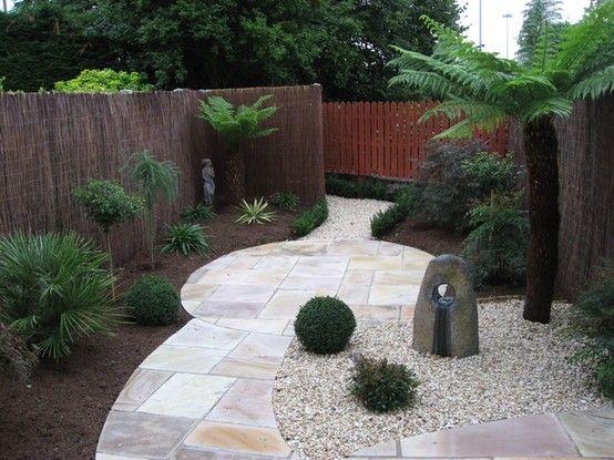 No grass, willow (?) fencing. | Garden Design Ideas ... on Cheap No Grass Backyard Ideas  id=22574