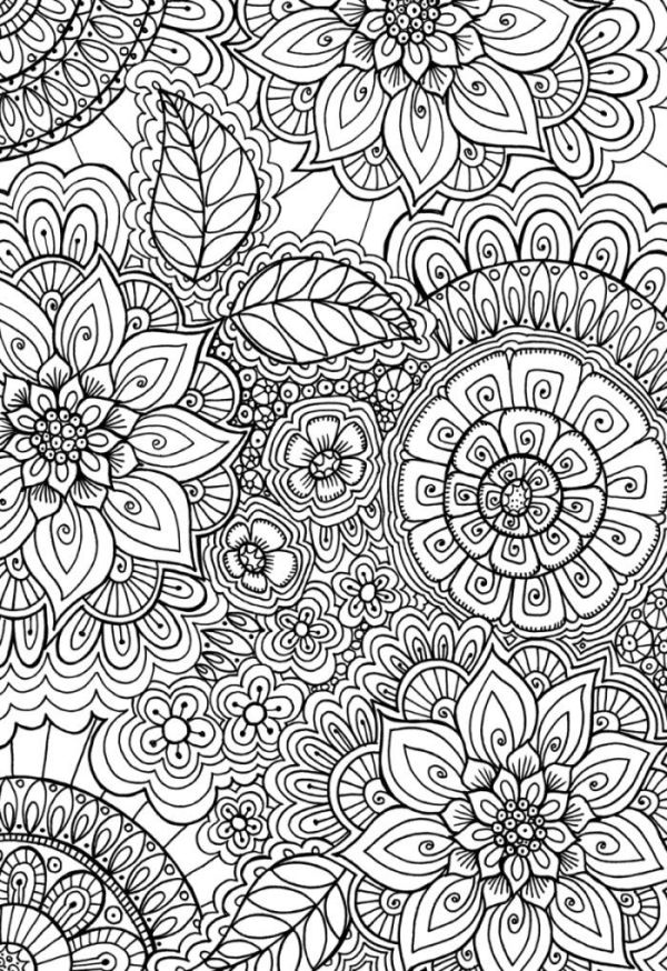Cindy Wilde - 60's Patern Colouring Page   Doodle Art ...