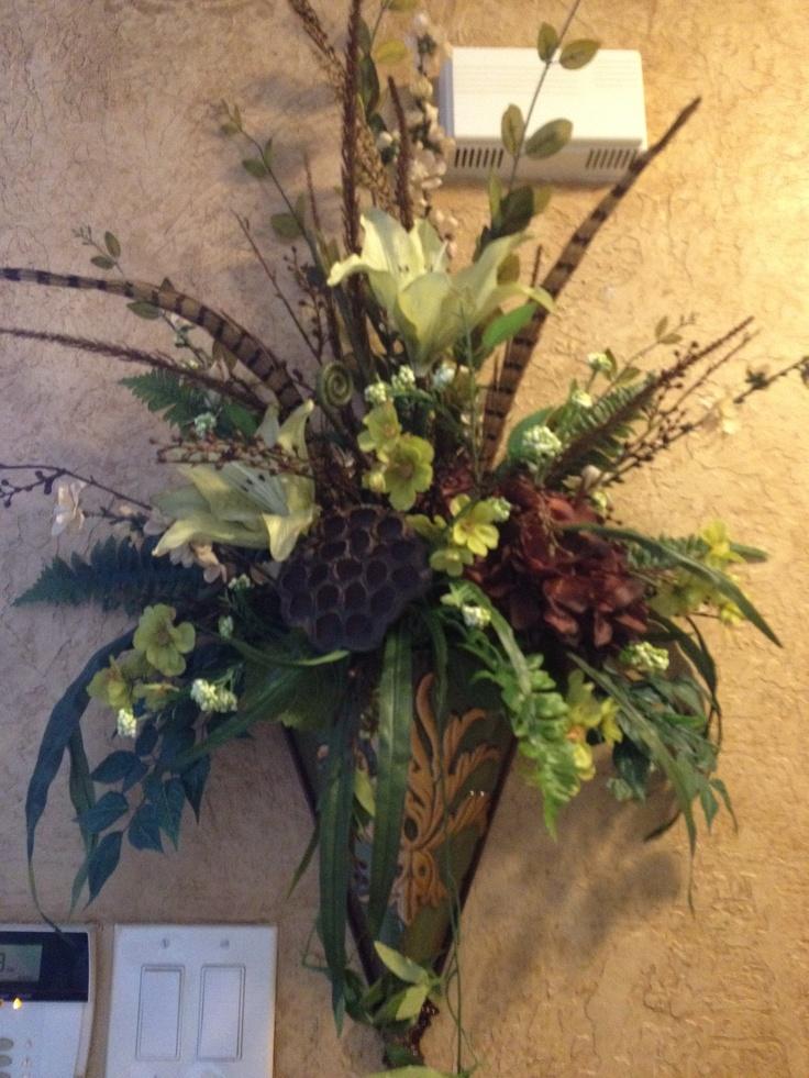 35 best images about tuscan flower arrangements on ... on Wall Sconce Floral Arrangements Arrangement id=61486