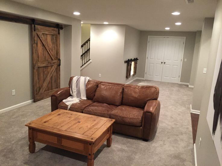 Finished Basement Walls Are Agreeable Gray By Sherwin