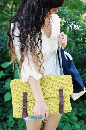 Stay trendy with your DIY lap-top cover, crocheted in the easy care yarn, Cotton-Ease.