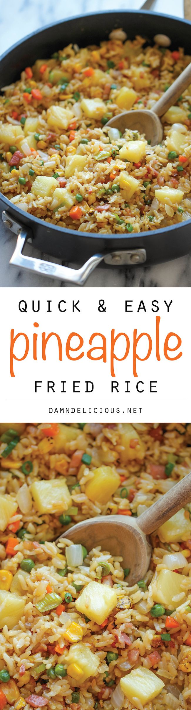 Pineapple Fried Rice – A quick and easy weeknight meal thats so much cheaper, tastier and healthier than take-out!