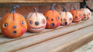 SINCLAIR.....vintage inspired pumpkin Halloween by candicewirth