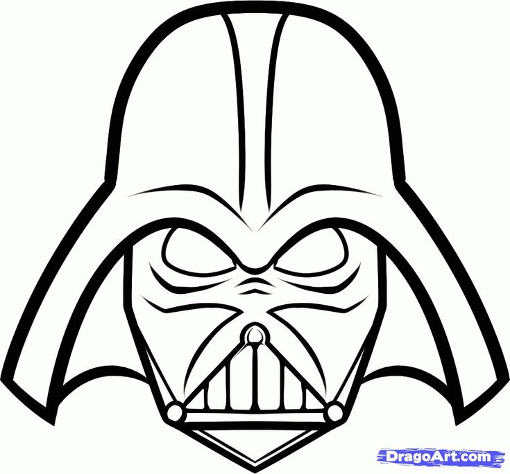 Printable Darth Vader Mask Star Wars Party Pinterest
