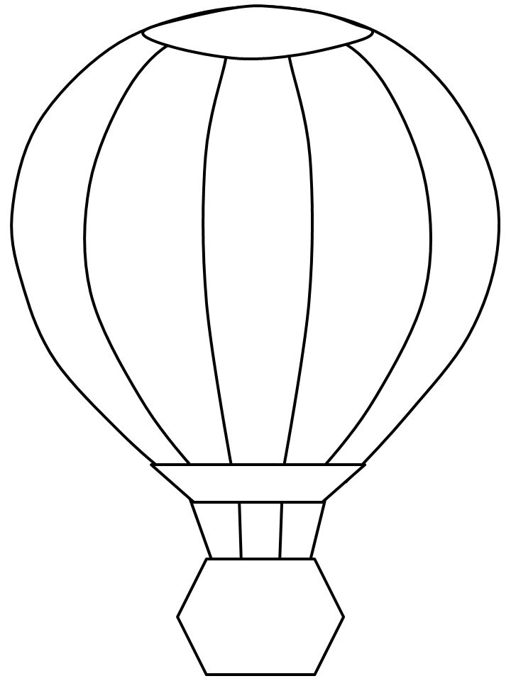 Template For Construction Paper Hot Air Balloons Crafts