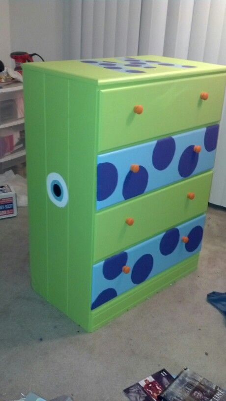 A Dresser My Best Friend Painted For Our Monsters Inc Themed Nursery