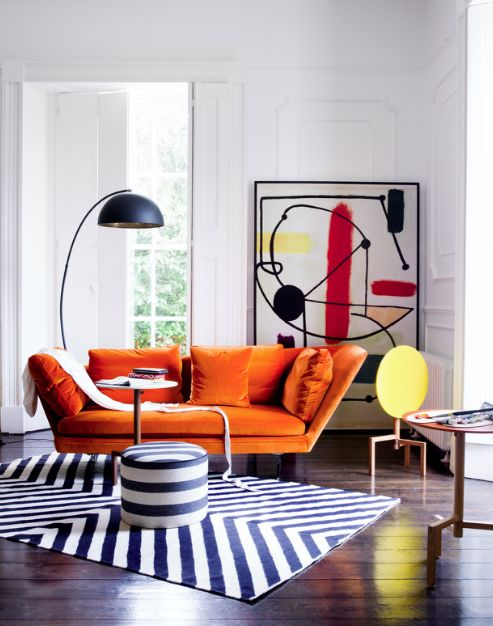 25 Best Ideas About Orange Sofa On Pinterest Orange