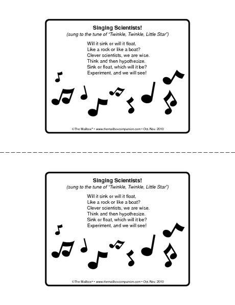 Sink or Float song   Education   Pinterest   Songs ...