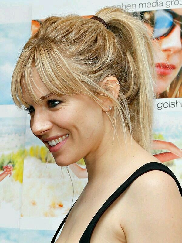 1000 Ideas About Highlighted Bangs On Pinterest Hair