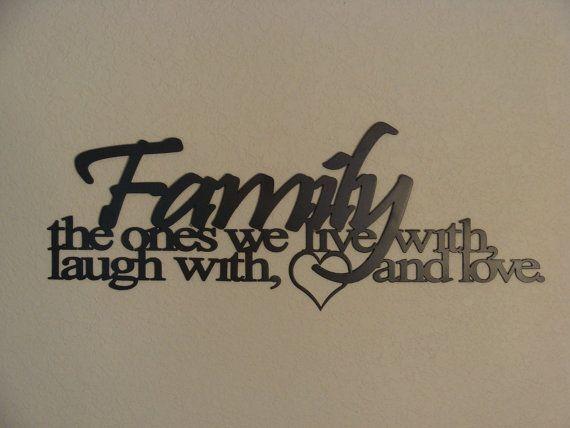 Family Ties CNC Plasma Metal Word Art Wall Hanging
