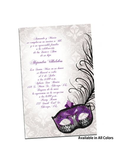 Quinceanera Invitations Quinceanera And Mascaras On Pinterest