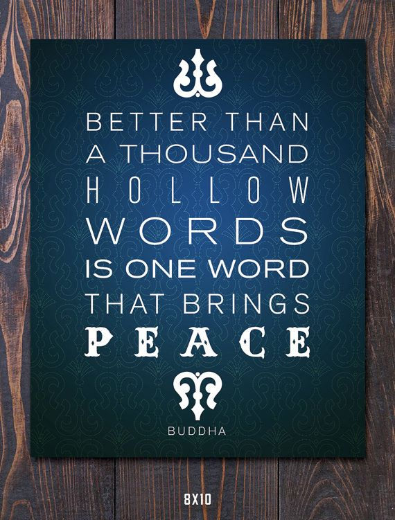 Buddha Peace Quote Giclee Art Print - Mat options - FREE ...