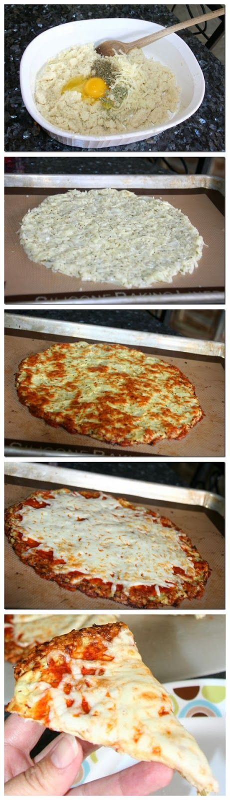 Cauliflower Crust Pizza! I can eat