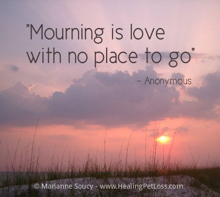 The healing is in finding a place for the love to go. Cooking, releasing balloons, remembering, crafting in memory of your loved