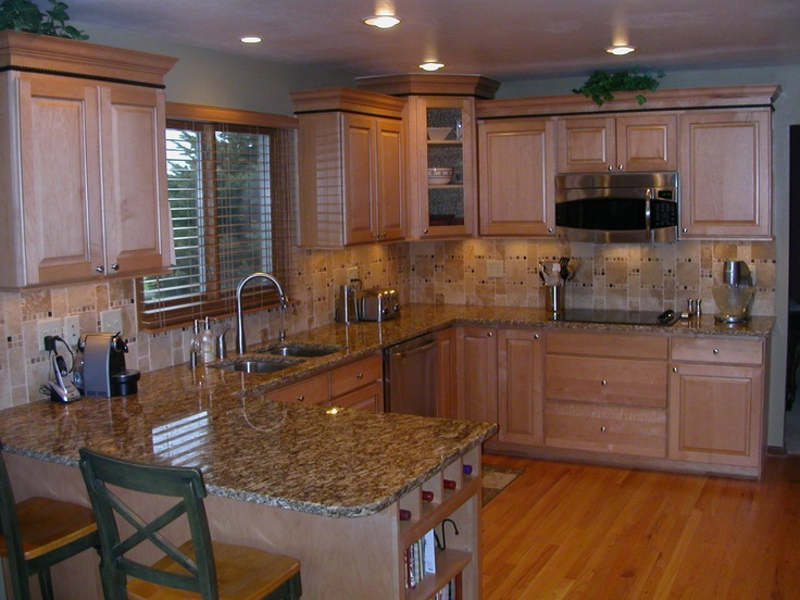 Remodeled Kitchen in natural maple cabinets   Kitchens ... on Natural Maple Kitchen Backsplash Ideas With Maple Cabinets  id=84689