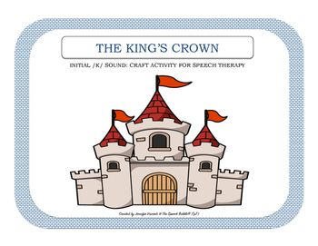 The King's Crown: Speech Therapy Cut + Paste Activity ...