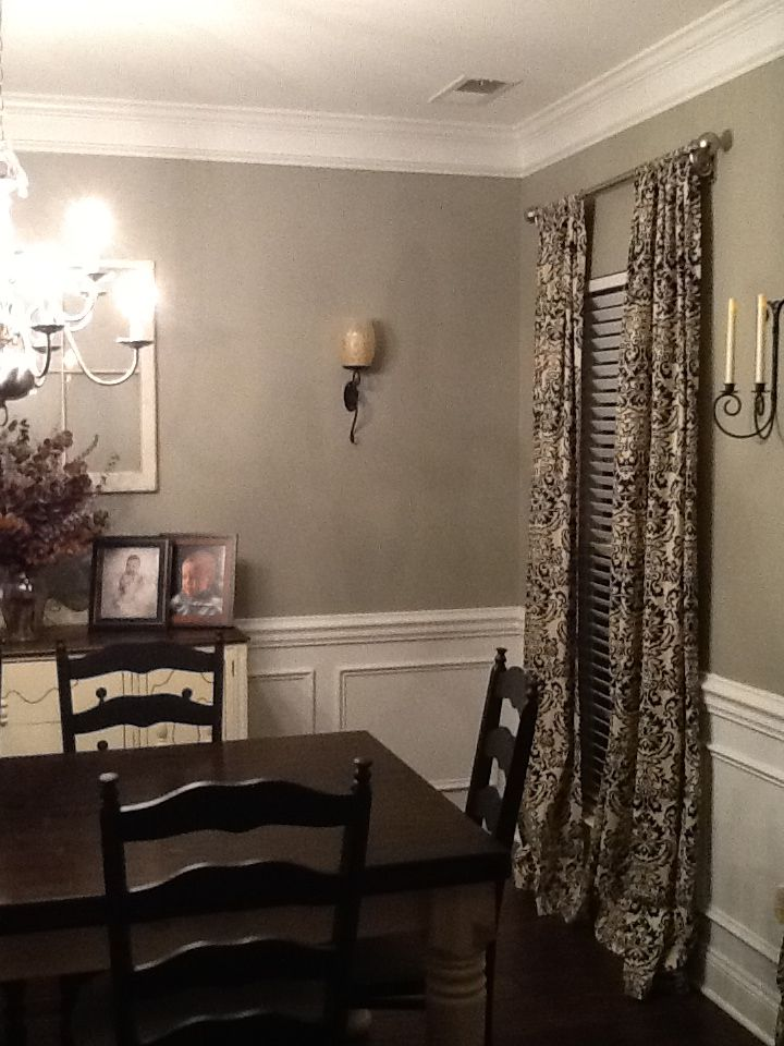 Glidden Paint Wood Smoke Dining Room For The Home