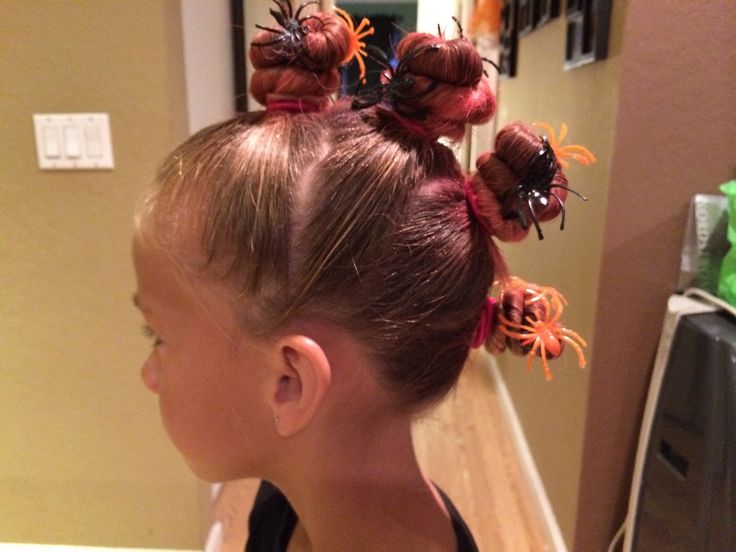 Spider Bun Hawk For Crazy Hair Day We Had Crazy Hair Day